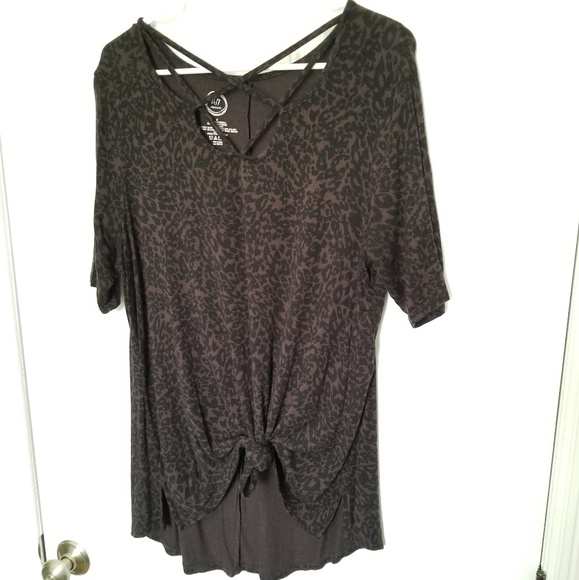 Maurices Tops - Leopard Print 24/7 Strappy Tee